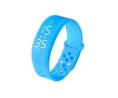 W6 Smart Watch Bracelet Wearable Sports Health Pedometer Wristband Blue