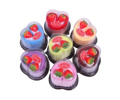5pcs Heart Shape Cake Microfiber Absorbent Towels Festival Valentine Weeding Gift Party Decoration R