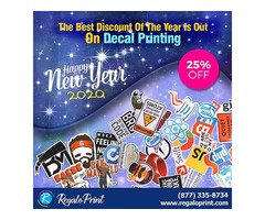 The Best Discount Of The Year Is Out On Decals Printing - RegaloPrint