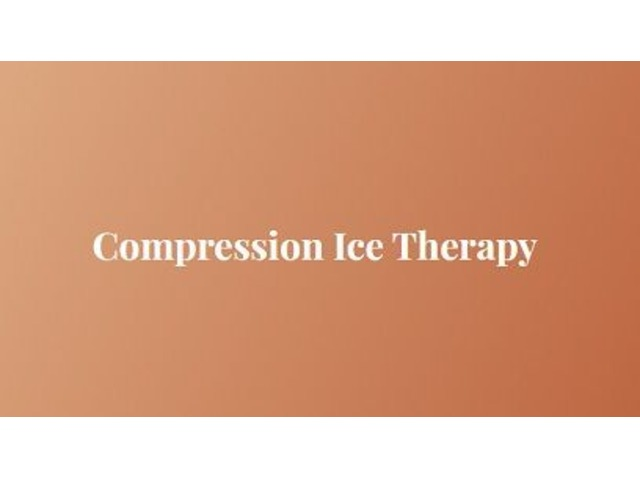 Recover from injury with compression ice therapy | free-classifieds-usa.com