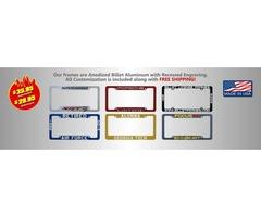 Buy Custom License Plate Frames at Billetframes.com