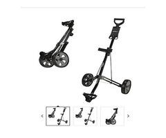 Caddymatic Golf Lite Trac 2 Wheel Folding Golf Cart Black
