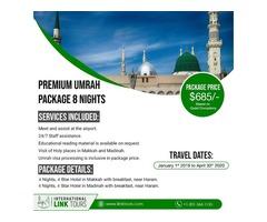 8 Nights Premium Umrah Package $685