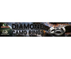 Mens Diamond Camo Rings-TheJewelrySource.Net
