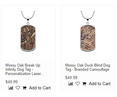 Men's Camo Dog Tags-TheJewelrySource.Net