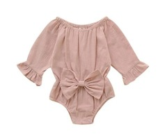 Newborn Infant Baby Long Sleeve Bodysuit