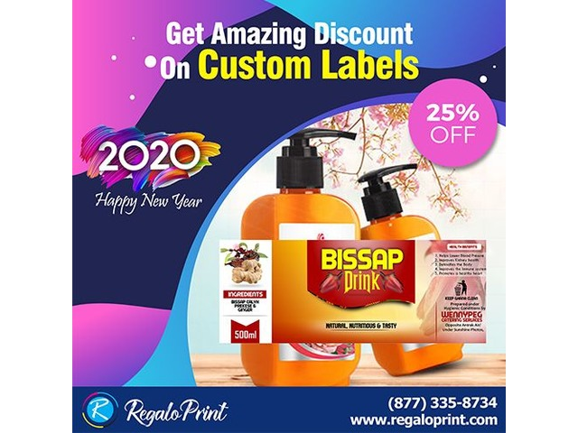 Get Amazing 25% Discount on Custom Labels - RegaloPrint | free-classifieds-usa.com