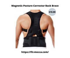 Super Adjustable Magnetic Posture Corrector Back Brace for Back Pain Relief