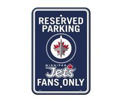 NHL Winnipeg Jets Plastic Parking Sign