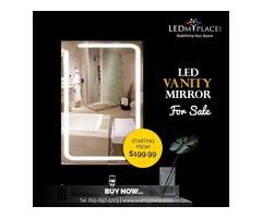 Premium LED Designed LED Bathroom Lighted Mirror On Sale