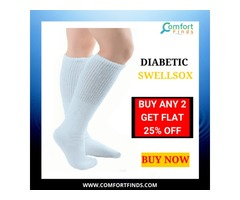 BUY DIABETIC SWELL SOX that helps in Swelling.