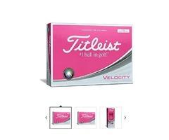 Titleist Velocity Golf Balls, Pink (One Dozen)