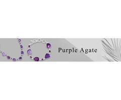 Buy Purple Agate Jewelry Online At Wholesale Price | Sanchi and Filia P Designs