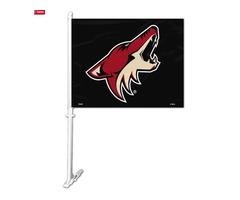 NHL Phoenix Coyotes Car Flag W/Wall Brackett