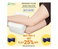 Memory Foam Knee Pillow is Used for Spinal Alignment.