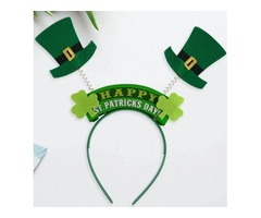Girls St. Patrick's Day Leprechaun Hat Spring Bopper Headband