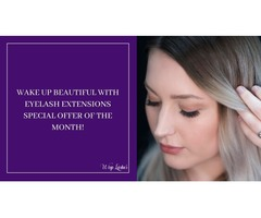 Wake up Beautiful with Eyelash Extensions Special offer of the month!