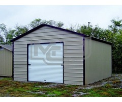Shop Boxed Eave Metal Garage in Various Sizes