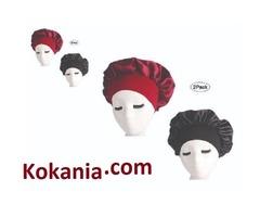Funcl Womens Sleep Night Cap Wide Band Satin Bonnet For Hair Beauty,Hair Care Cap,Chemo Beanie,Curly