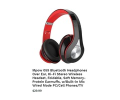 Best & New Stereo Wireless Headset fold-able Rescue Beam Online Collection Store