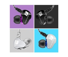 QKZ F910 Double Unit Drive In Ear Earphone Bass Subwoofer HIFI DJ Monito Running Sport Headset Earbu