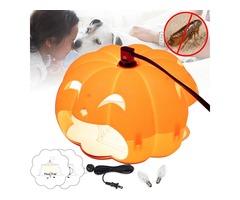 Halloween Pumpkin Flea Trap Lamp Mosquito Dispeller US Two Plug Flea Killer LED Outdoor Home Night L