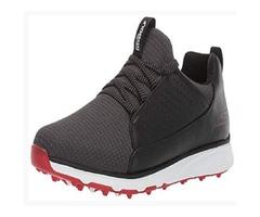 Skechers Men's Mojo Waterproof Golf Shoe, Black/red Textile, 12.5 M US