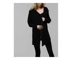 Onzie Hot Yoga Wear Zip Jacket Black