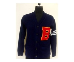 Get the Best Deal For A Machine Woven Varsity Sweater