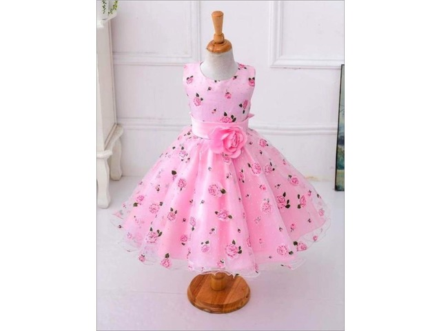 Buy Girls Spring Roses Print Party Dress Online   free-classifieds-usa.com