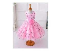 Buy Girls Spring Roses Print Party Dress Online