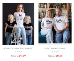 Buy matching couples t-shirts for this Valentine 's Day