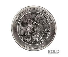 2020 Perth Kookaburra 2 Kilo Silver Antiqued High Relief Coin