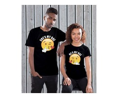 Buy matching couples t-shirts for valentine's day