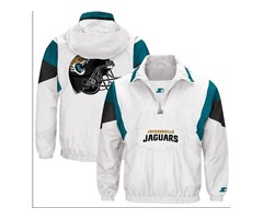 NFL Jacksonville Jaguars Men's Starter White Thursday Night Lights Breakaway Jacket