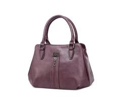Women Faux Leather Leisure Large capacity Handbag