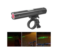 XANES XL23 Bicycle Laser Headlight Laser Warning Signal Light Aluminum Alloy 4 Modes USB Charging