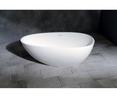 Buy Premium Aqua Eden White Stone Bathtub Online