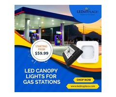 LED Canopy Lights for the Gas Station