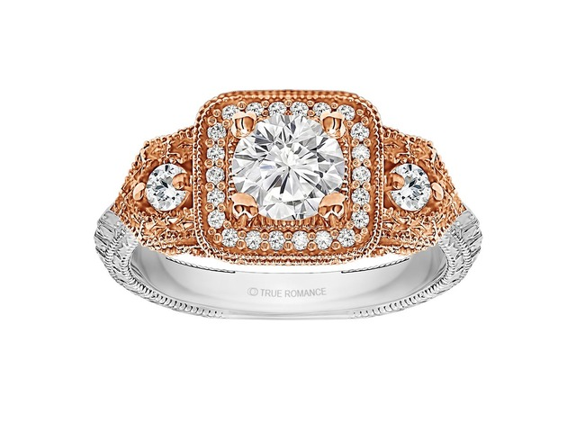 Round Cut Halo Diamond Vintage Engagement Ring | free-classifieds-usa.com