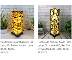 Agate Table Lamps For Sale