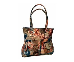 100% Argentinean Floral Leather Bag - Slender Lines & Roomy For $165 | free-classifieds-usa.com