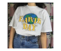 EARTH DAY 90S AESTHETIC WOMEN GIRL'S T SHIRT | free-classifieds-usa.com
