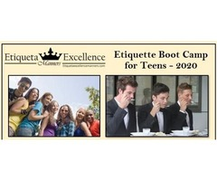 Spring Break Teen Etiquette Boot Camp