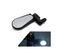 BIKIGHT Bike Bicycle Headlight Mirror 2 in 1 360° Rotation Handlebar Rearview Cycling MTB Road Bike
