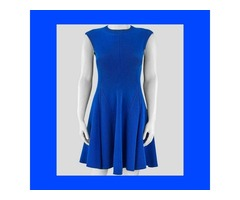 Buy Victoria Beckham Royal Blue Women Silhouette Dress