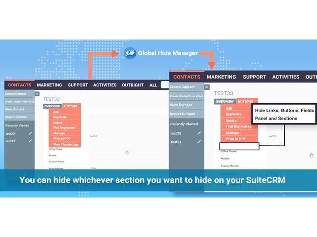 SuiteCRM Global Hide Remove Unused Things | Outright Store | free-classifieds-usa.com