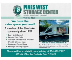 Clean Self Storage to Rent in Pembroke Pines
