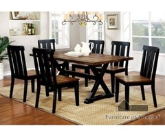 Buy Alana Transitional Table with 6 Chairs - Rainbow Best Deal