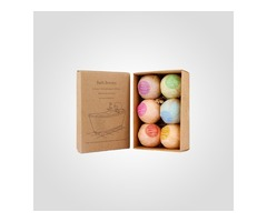 Get Quality Designed Custom Bath Bomb Boxes In Wholesale